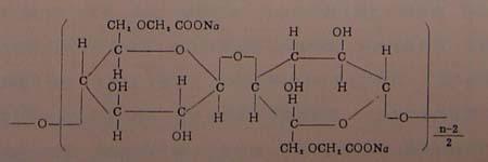 > 羧甲基纤维素钠(cmc)系列  一,名称及分子结构 1,名称:羧甲基纤维素图片